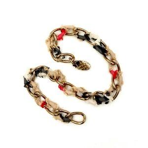 BURBERRY Nova Check Gold Cable Necklace